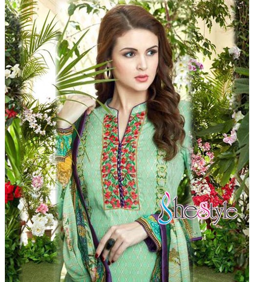 Shop for the fine, wonderful to wear cotton lawn material with embroidery work that make you look gorgeous