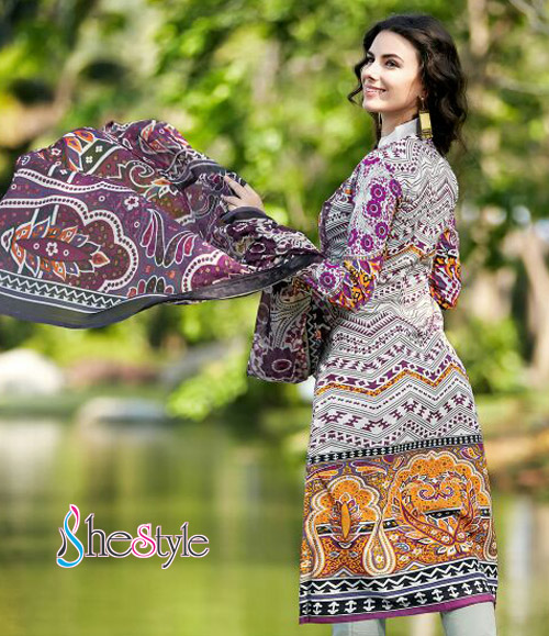 Opulently Printed Cotton Salwar Kameez