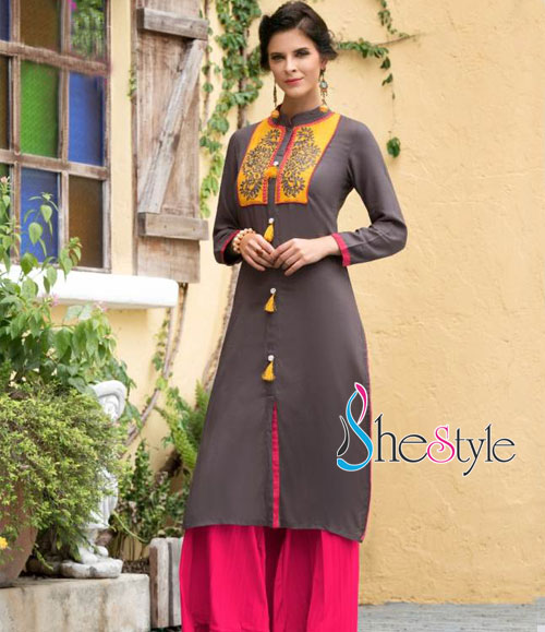 Exceptional Rayon Cotton Kurti