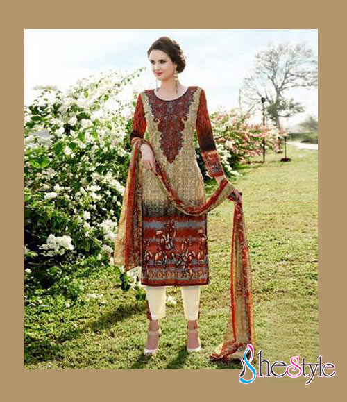 Appealing Lawn Cambric Printed Salwar Material
