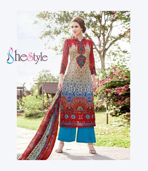Delightful Lawn Cambric Printed Salwar Material