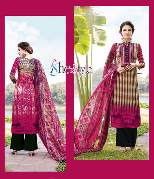 Excellent Lawn Cambric Printed Salwar Material