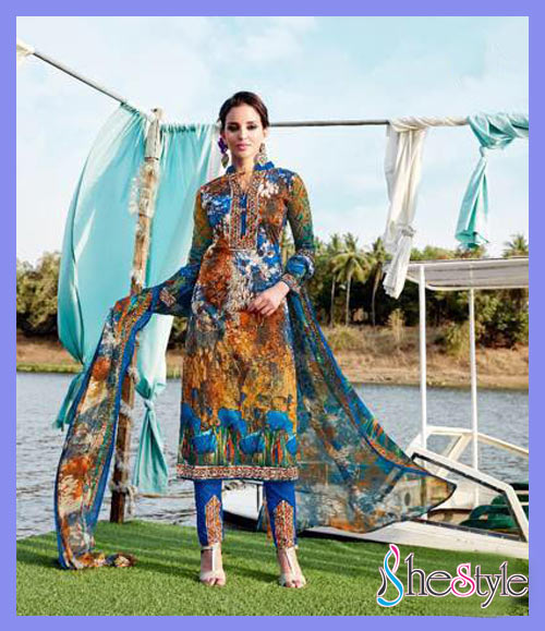 Gorgeous Lawn Cambric Printed Salwar Material