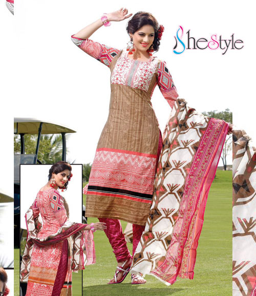 Fair-looking Printed Cotton Salwar Material