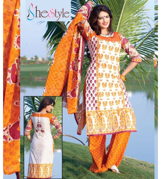 Eyeful Printed Cotton Salwar Material