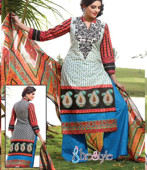 Lovely Printed Cotton Salwar Material